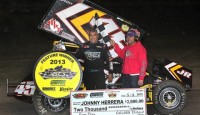 Johnny Herrera has been racing for over 30 years. His résumé reflects his tenacity as a driver with two Knoxville Raceway Championships, 1996 Kings Royal winner despite a collapsed sideboard, 2007 SCOA Champion, and wins that number in the hundreds across nearly every discipline of Sprint Car racing.