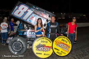 Danny Wood became the fifth winner of 2013 with the American Bank of Oklahoma Sooner Region by topping the Devil's Bowl regional showdown on Saturday, May 18, 2013 (ASCS / Pat Grant)
