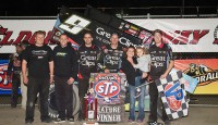 Daryn Pittman won the World of Outlaws STP Sprint Car feature Saturday night at Eldora Speedway.  Brian Brown, Donny Schatz, Jac Haudenschild, and Joey Saldana rounded out the top five.