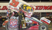 Kerry Madsen won the STP World of Outlaws sprint car series feature Friday night at Eldora Speedway.  Craig Dollansky, Paul McMahan, Donny Schatz from 24th starting spot, and Jac Haudenchild rounded out the top five.  More on this race to come!