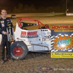 Billy Wease in victory lane at Montpelier Motor Speedway. - Bill Miller Photo