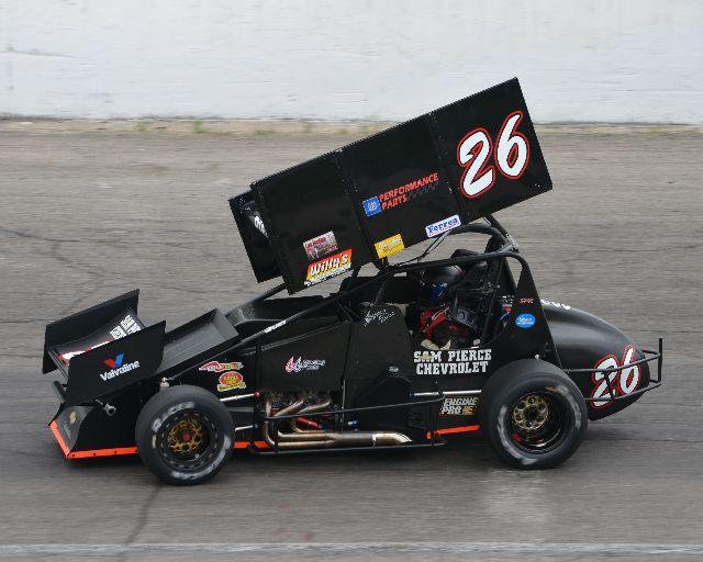 Pierce Race Cars: PIERCE SPINS AND WINS FIRECRACKER 50