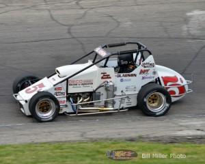 Starting Position 7:  Bryan Clauson. - Bill Miller Photo
