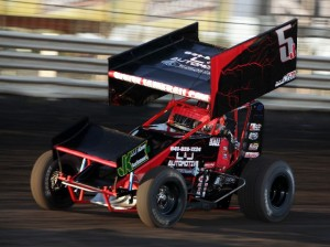 Jamie Ball sets quick time for the Knoxville Raceway 360's on 11 May 2013. - Serena Dalhamer photo