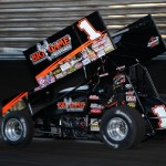 Sammy Swindell sets quick time for the World of Outlaws at Knoxville Raceway on 11 May 2013. - Serena Dalhamer photo