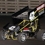 Tony Shilling wins the Knoxville Raceway 360 sprint feature on 11 May 2013. - Serena Dalhamer