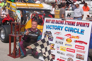 Dave McKnight in victory lane at Winchester Speedway. - David Sink Photo