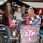 Daryn Pittman in victory lane at Eldora Speedway. - Jan Dunlap Photo