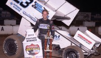 Taking advantage of an off weekend with the Lucas Oil ASCS presented by MAVTV American Real, Washington native Seth Bergman came from seventh and tracked down an all but gone Sean McClelland at the Outlaw Motorsports Park...