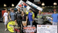 Kevin Ramey posted his second victory of 2013 Saturday night at the Kennedale Speedway Park against the Smiley's Racing Products Lone Star and American Bank of Oklahoma Sooner Regions with a dominating performance that saw the Print Place No. 7m lapping to seventh place in the 25 lap A-Feature.