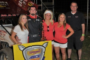 Jake Martens wired the field in Friday's Budweiser Shootout at the U.S. 36 Raceway with the Speedway Motors Warrior Region (ASCS / John Lee Photo)