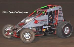 """The Demon"" Damion Gardner. USAC/CRA Point Leader. Photo by Scott Sheldon / SprintCarScotty.com."
