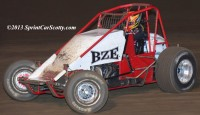 Bud Kaeding won the USAC Western Classic sprint car feature Friday night at Ocean Speedway during the Howard Kaeding Classic