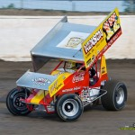 Tim Allison in the Travis Miller tribute car. - Mike Campbell Photo