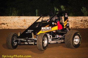 'Hotrod' Kent hikes the left front on the #55 / Mike Spivey Photo