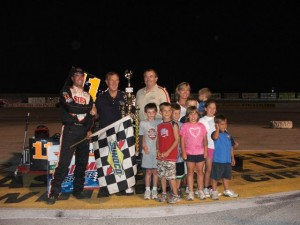 Chris Perley in victory lane at Toledo. - T.J. Buffenbarger Photo