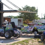 Matt Westfall did double duty on Saturday in the sprint car and modified divisions. - T.J. Buffenbarger Photo