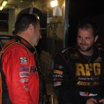 Tracy Hines talking to Robert Ballou. - T.J. Buffenbarger Photo
