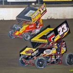 Tim Allison (#17) racing with Devon Dobbie (#23) at Limaland Motorsports Park. - Mike Campbell Photo