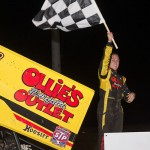 Brad Sweet won the UNOH All Star Circuit of Champions Ohio Sprint Speedweek feature at Waynesfield Raceway Park. - Mike Campbell Photo