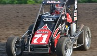 Christopher Bell won the 2013 edition of the Belleville Nationals Saturday night at the Belleville High Banks.