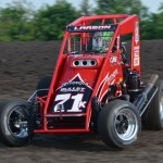 Kyle Larson at Gas City I-69 Speedway during Indiana Midget Week. - Bill Miller Photo