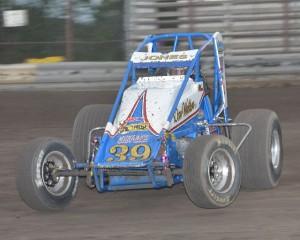Levi Jones at Gas City I-69 Speedway. - Bill Miller Photo