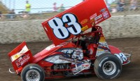 Tim Shaffer wins Friday portion of UNOH All Star Circuit of Champions action at Attica Raceway Park...