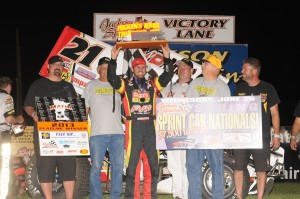 Brian in Victory Lane at Jackson (Rob Kocak Photo)