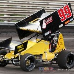 Matthew Stelzer sets 305 quick time at Knoxville Raceway on 8 June 2013. (Serena Dalhamer photo)
