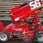 Davey Heskin set 410 quick time at Knoxville Raceway on 8 June 2013. (Serena Dalhamer photo)