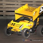 Joe Beaver took the 360 feature win at Knoxville Raceway on 8 June 2013. (Serena Dalhamer photo)