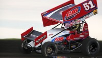 McMahan showing single car teams without NASCAR backing can still run up front with the World of Outlaws...