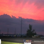 Sunset and thunderstorms at Jackson Speedway. (Serena Dalhamer photo)