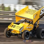 Joe Beaver set quick time in the 360 class at Knoxville Raceway on 22 June 2013 (Serena Dalhamer photo)