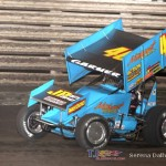 Clint Garner took the 360 feature at Knoxville Raceway on 22 June 2013. (Serena Dalhamer photo)