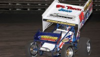 """Dynamite"" Mark Dobmeier claimed with number seven of the 2014 season at the Huset's Speedway near Brandon, South Dakota July 12.  Except for some bad luck, he easily could have picked up two or three more wins in the past couple of weeks."