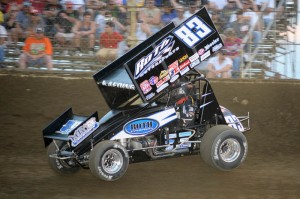 Timn Kaeding on the hammer at Kokomo Speedway. - Jan Dunlap Photo