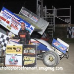 #16 Chris Andrews all star speedweek 410 sprint feature winner. - Action Photo