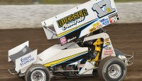 Bill Balog won the Bumper to Bumper Interstate Racing Association feature Friday night at Oshkosh Speed Zone Raceway.
