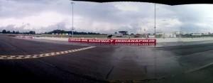 Lucas Oil Raceway in the rain.  - Chris Seelman Photo