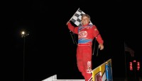 The Salina Speedway played host to the Lucas Oil American Sprint Car Series presented by MAVTV American Real on Friday night, where Jeff Swindell captured his first Lucas Oil ASCS National Tour win of 2014, and became the third different Lucas Oil ASCS A-Feature winner at the Kansas oval; but it wasn't without it's close call.