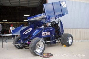 The latest Hall of Fame raffle car making its first appearance Saturday at the Kings Royal. - T.J. Buffenbarger Photo