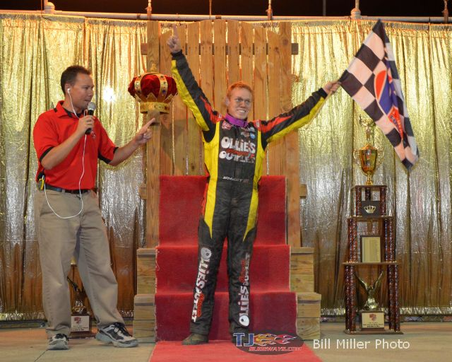 Brad Sweet just before the coronation after winning the 2013 edition of the Kings Royal. - Bill Miller Photo