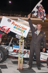 Chris Paller in victory lane at Lake Erie Speedway. - Photo by: RG Design