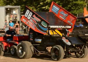 Tim Crawley drove Mike Ward's #88 to the Championship in the 8th annual USCS Outlaw Thunder Tour Sprint Speedweek mini-series.    - Image courtesy of USCS