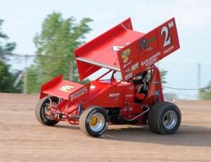 Dustin Daggett at Tri-City Motor Speedway. - T.J. Buffenbarger Photo