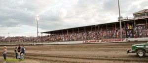 Eldora Speedway's Kings Royal crowd just before the racing program starts. - Mike Campbell Photo