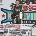 Kyle Larson in victory lane at Knoxville Raceway. - Mike Campbell Photo