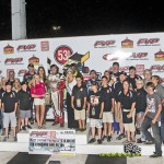 Brook Tatnell in victory lane after the win in the Speed Sport World Challenge. - Mike Campbell Photo